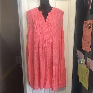 Pink and white Schiff dress